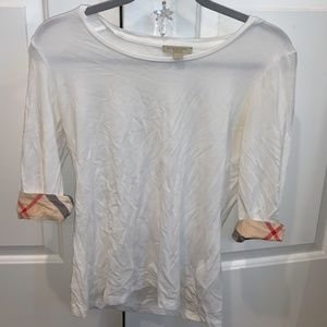Burberry Brit 3/4 Sleeve Top
